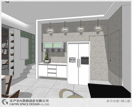 Sketch up設計 系統櫃 電視牆設計 鋁框推拉門設計 (3)