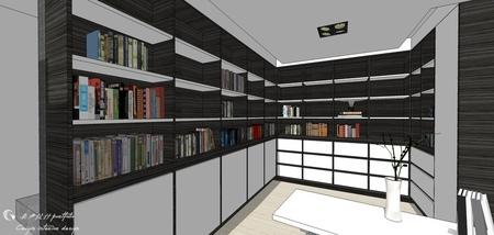 台中舊屋改造翻新 書房空間系統櫃書櫃設計.jpg
