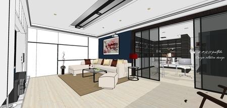 台中舊屋改造翻新 書房空間收納系統櫃設計 (2).jpg