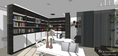 台中舊屋改造翻新 書房空間系統櫃設計.jpg