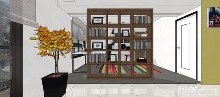情定水蓮 英式工業風 書房空間系統收納開放櫃設計.jpg