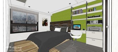 情定水蓮 英式工業風 主臥室收納展示系統櫃設計.jpg