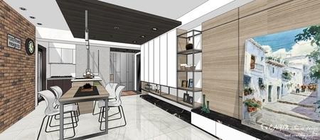 情定水蓮 英式工業風 餐廳空間系統收納展示櫃設計.jpg