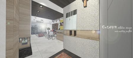 情定水蓮 英式工業風 玄關入口系統展示櫃設計.jpg