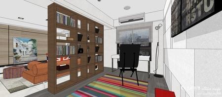 情定水蓮 英式工業風 書房空間系統收納展示櫃.jpg
