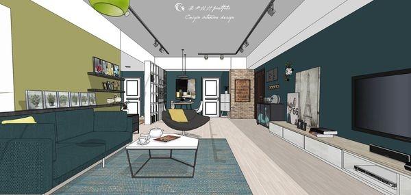台中老屋改造 客廳空間系統電視櫃設計.jpg