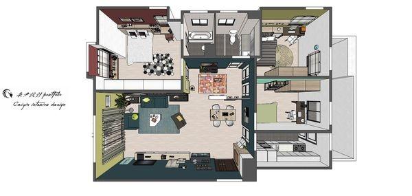 台中老屋改造 室內空間設計規劃3D圖.jpg