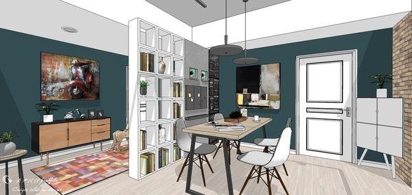 台中老屋改造 餐廳空間收納展示系統櫃設計3.jpg