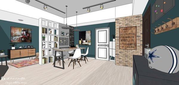 台中老屋改造 餐廳空間收納展示系統櫃設計2.jpg