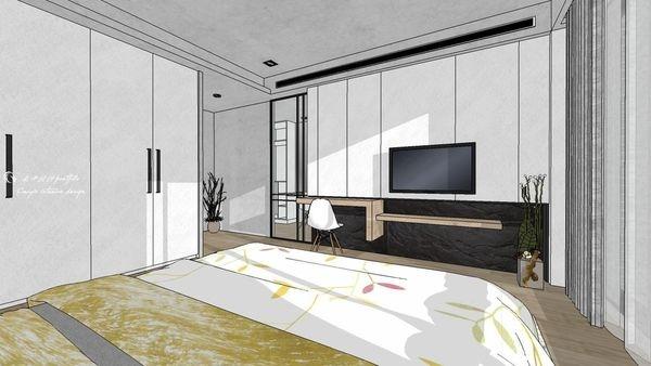 博星建設 泊心 臥室空間電視牆造型系統層板櫃設計.jpg