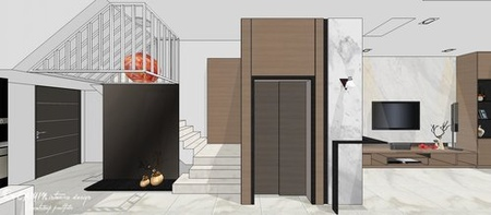 台中室內設計 現代禪風 客廳空間收納系統櫃設計.jpg