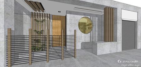 台中住宅設計 現代禪風 室外門口造景設計.jpg