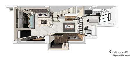 台中室內設計 沙鹿山水一品 美式鄉村  室內規劃設計3D圖.jpg