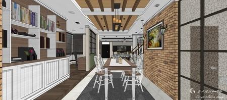 台中室內設計 沙鹿山水一品 美式線板收納櫥櫃設計.jpg