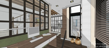 台中室內設計 沙鹿山水一品 系統書桌設計.jpg