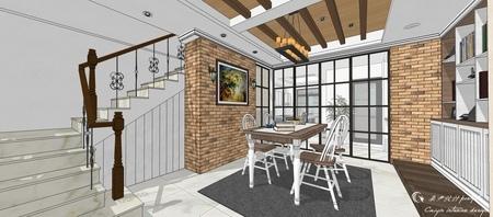 台中室內設計 沙鹿山水一品 美式鄉村 (5).jpg