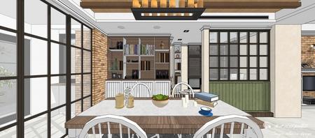 台中室內設計 沙鹿山水一品 餐廳空間餐廚收納櫃設計.jpg