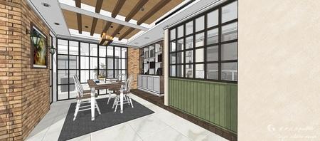 台中室內設計 沙鹿山水一品 餐廳餐廚收納櫃設計.jpg
