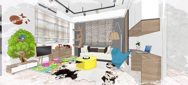 綠建材裝潢 自然人文風格 客廳空間系統收納櫃設計 (2).jpg