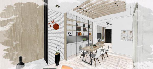 綠建材裝潢 自然人文風格 客廳空間系統收納櫃設計.jpg