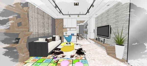 綠建材裝潢 自然人文風格 客廳空間電視牆造型電視櫃設計.jpg