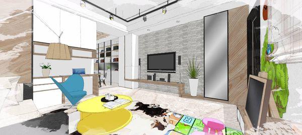 綠建材裝潢 自然人文風格 客廳電視牆造型系統電視櫃設計.jpg