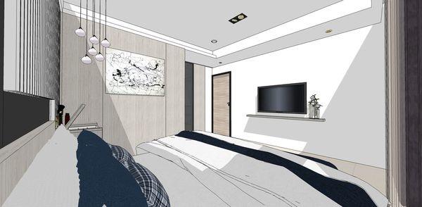 登陽建設 登陽廊香 主臥室空間電視牆設計.jpg
