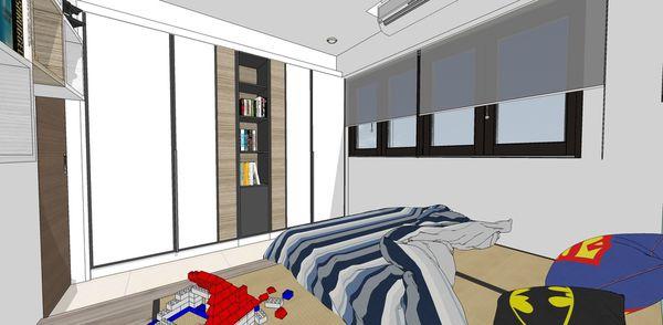 登陽建設 登陽廊香 小孩房系統收納衣櫃設計.jpg