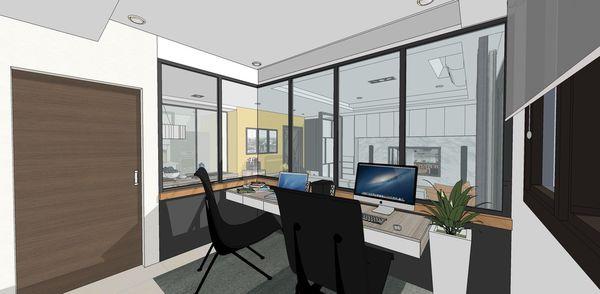 登陽建設 登陽廊香 書房空間鋁框門設計.jpg