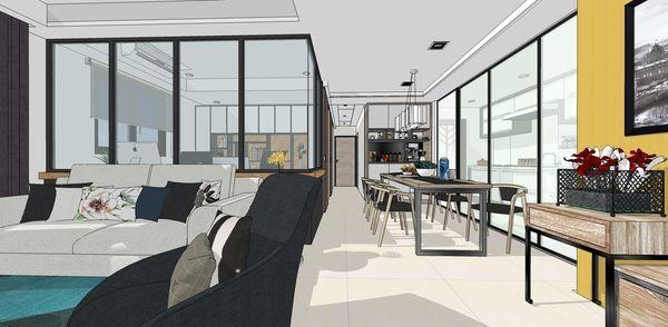 登陽建設 登陽廊香 餐廳空間系統餐櫥櫃設計
