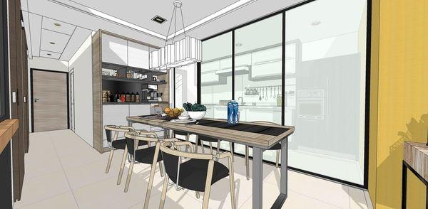 登陽建設 登陽廊香 廚房系統收納櫃設計.jpg