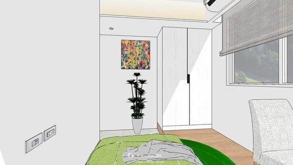 勝麗建設 雲天大地 次臥室系統收納衣櫃設計 (2).jpg