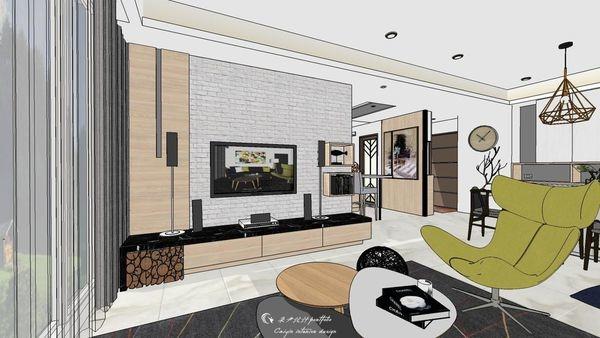 勝麗建設 雲天大地 客廳空間系統電視櫃設計.jpg
