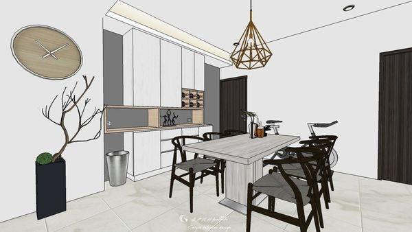 勝麗建設 雲天大地 餐廳空間系統收納櫃設計.jpg