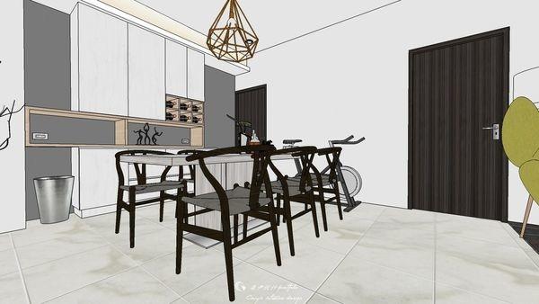 勝麗建設 雲天大地 餐廳空間系統紅酒櫃設計.jpg
