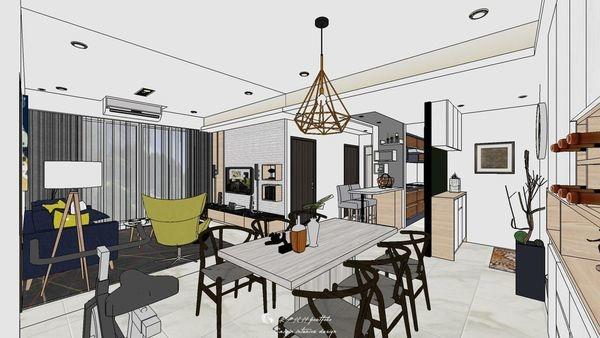 勝麗建設 雲天大地 餐廳空間系統收納餐廚櫃設計.jpg