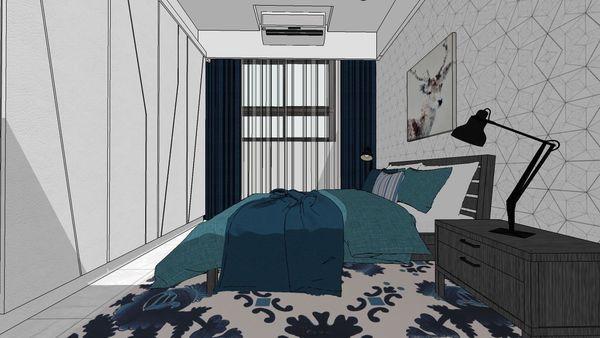 惠宇建設 惠宇新觀 主臥室空間系統衣櫃造型門片設計.jpg