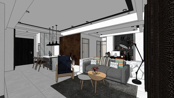 惠宇建設 惠宇新觀 客廳空間設計 收納滑門系統櫃設計.jpg