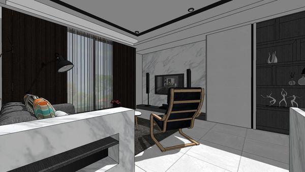 惠宇建設 惠宇新觀 客廳空間展示系統櫃設計.jpg