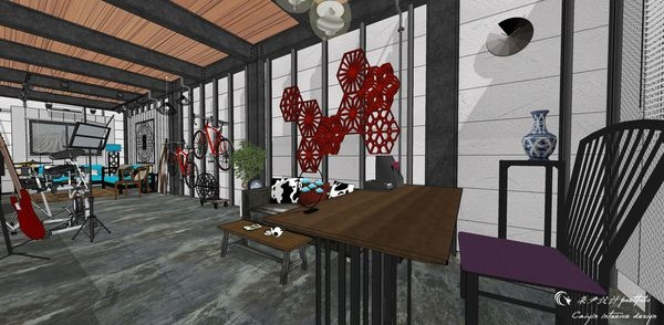 貨櫃屋設計 中國工業風 書房區空間設計 (2).jpg