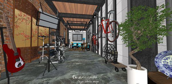 貨櫃屋設計 中國工業風 室內走道空間設計.jpg