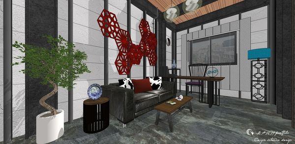 貨櫃屋設計 中國工業風 書房區空間設計.jpg