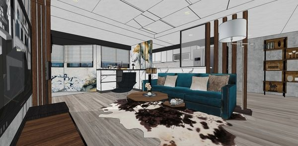 大台中新市 老屋翻新 客廳空間收納系統矮櫃設計.jpg
