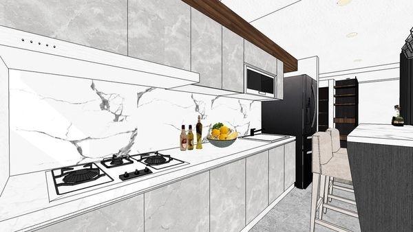 大台中新市 老屋翻新 餐廳空間系統櫥櫃設計.jpg