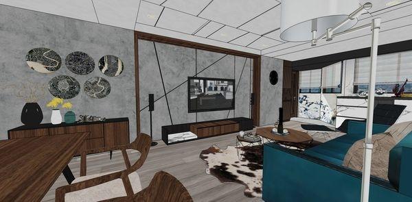 大台中新市 老屋翻新 客廳空間電視牆系統電視櫃設計 (2).jpg