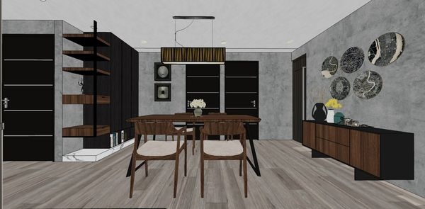 大台中新市 餐廳空間系統收納餐櫥櫃設計.jpg