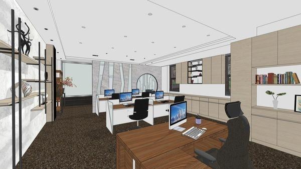 台中老屋翻新 辦公空間設計  辦公區收納系統櫃設計.jpg