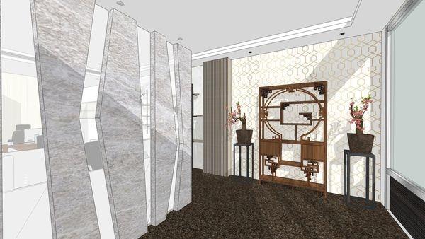 台中老屋翻新 辦公室空間設計 入口中式屏風設計 (2).jpg