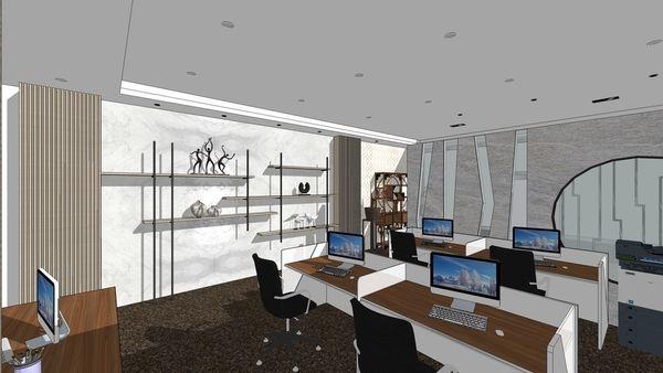 台中老屋翻新 辦公空間設計 造型系統層板櫃設計.jpg