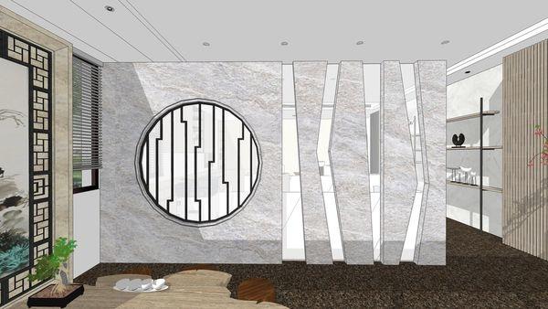 台中老屋翻新 辦公室空間設計 入口中式屏風設計.jpg